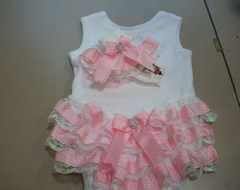 frilly baby vest and socks