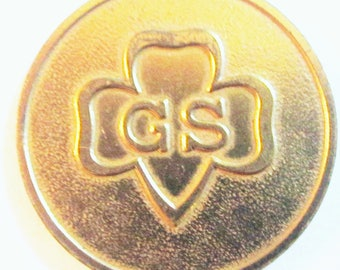 Vintage Girl Scout 60th Anniversary Commemorative Coin circa 1972