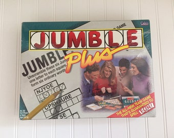 Jumble Plus Word Game, Vintage (still in shrink wrap)