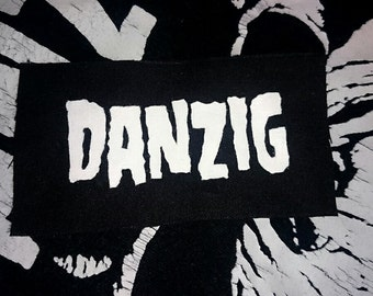 Hand Painted Danzig logo patch