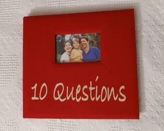 Premade 10 Questions Scrapbook