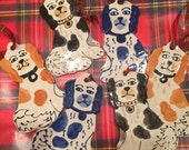 Hand painted Ceramic Staffordshire Spaniel Ornament COPYRIGHT design   Specify color