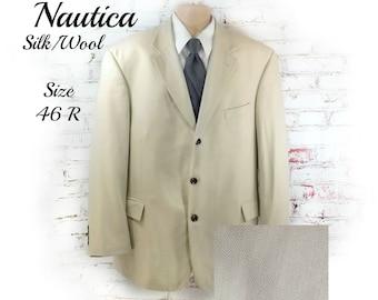 Men's Silk sport coat ,men's wedding coat ,men's summer sport coat ,  men's sports jacket, men's blazer ,  size 46 R.   # 202