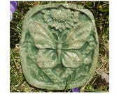 Garden gift - stepping stone - cement stepping stone - Cement garden art - Garden decor- butterfly garden art - butterfly garden art - # 33