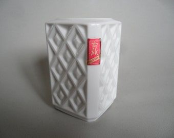 AK german porcelain candle holder,white porcelain candlestick holder,Vintage porcelain ware