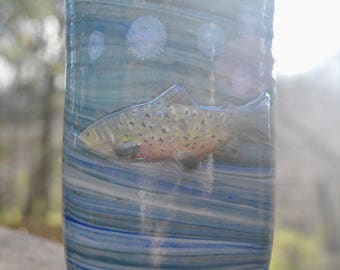 Ceramic Colored Clay Trout Tumbler