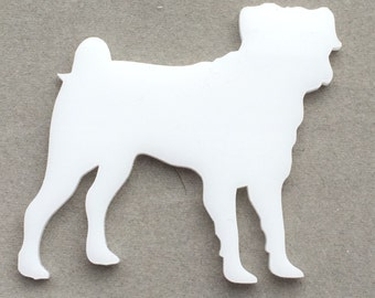 Dog Shaped Laser Cut 3mm Acrylic Shapes - Any Breed Available