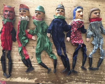 Antique Hand Puppet Collection