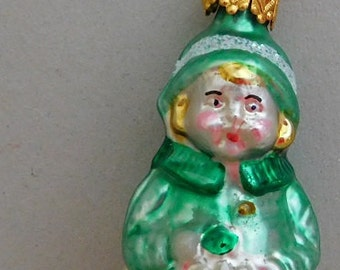 Little Girl in Green Ornament Made in Germany