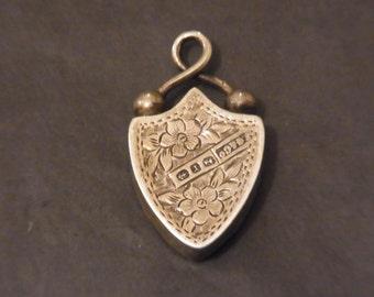 Antique Silver Locket 1891 Victorian Silver Locket 1800s Estate Jewellery Victorian Silver Jewellery Victorian Silver Love Token 1800s