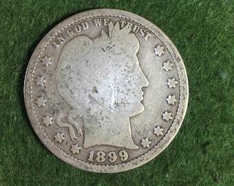 1899 Silver Barber Quarter