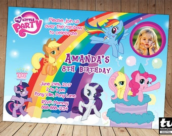 My Little Pony Birthday Invitation