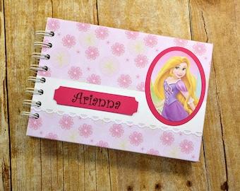 """Personalized RAPUNZEL Disney Princess Autograph Book and Photo Album - 5""""x7"""" ~ Rapunzel Autograph Book ~ Disney Autograph Book ~ Tangled"""