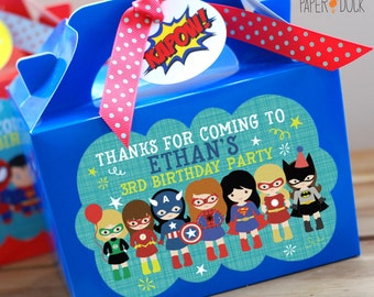 Personalised Children's Superhero Boy Girl Spiderman Batman Superman Captain America Ironman Bag Box Lunch Activity Stationary