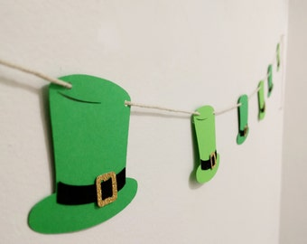 St Patrick's Day Top Hat String Banner