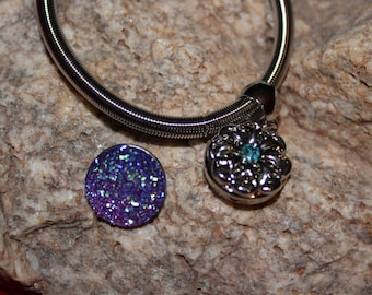 Stretch Interchangeable Snap Bracelet / Free Snap Button
