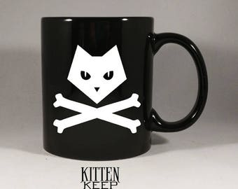 Cats | Pirate Cat | Jolly Roger | Jolly Roger Coffee Mug