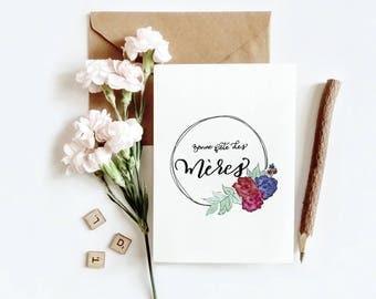 Carte de souhait   Bouquet de la fête des Mères (4 x 6 vertical)