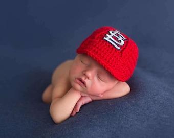 Newborn St. Louis Cardinal Crochet Hat