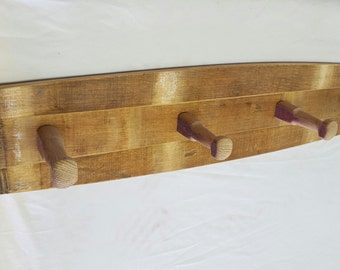 Wine Barrel Coat Rack (Outside of Barrel)