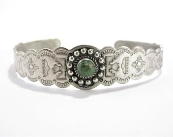 Vintage Southwestern Stamped Cuff Bracelet