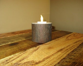 Small Log Candle Holder