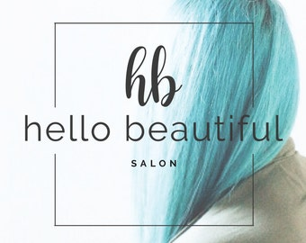 Modern Square Salon Premade Logo Design