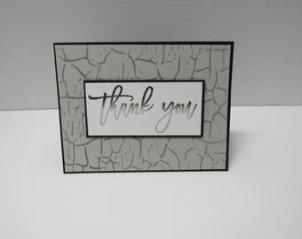 Handmade greeting card - Thank you card - Ombre' - Masculine card - Rustic - Gift for him