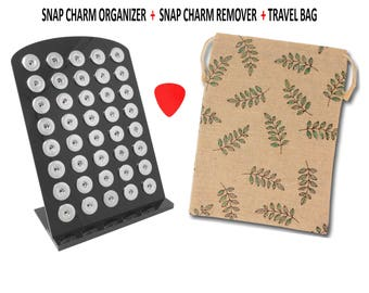 40 Snap Charm Organizer Display for Regular or Large Snap Charms Buttons Chunks
