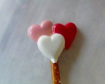 Valentine Pretzel Pops or Lollipops (12)