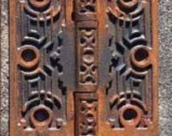 Beautiful Antique Ornate Victorian Eastlake Door Hinge