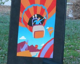 Albuquerque International Balloon Fiesta Framed Poster (1988)