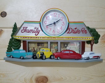 Burwood Products 2899-2 Family Drive In Diner Clock