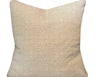 Magnolia Home Greek Key Geometric Decorative Pillow Cover - Throw Pillow - Accent Pillow - Both Sides - 16x16, 18x18, 20x20