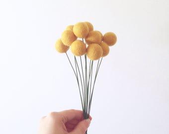 Felt Flower Bunch - Billy Buttons