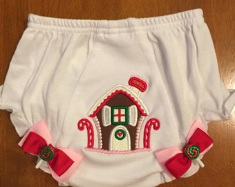 Gingerbread House Christmas Diaper Cover