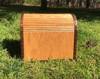 Handmade wooden treasure chest