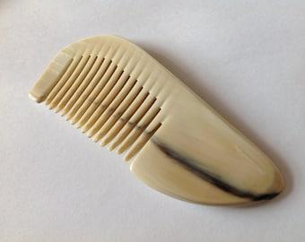 Genuine Natural Organic Oxhorn Travel Size Pocket Comb Antistatic B10S By Beard Basics