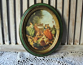 Vintage. Oval picture. Trademark O.F.M. Made in Italy.