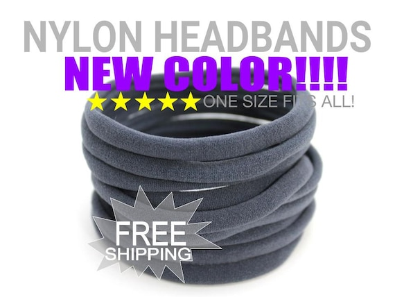 Stretchy Baby Headbands DARK GREY / Wholesale Spandex Headband / Skinny Very Stretchy One Size Fits most Nylon