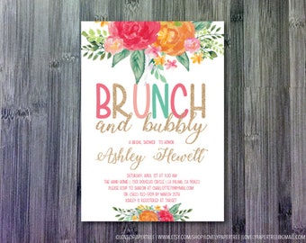 Glitter Brunch Shower Invitation | OR Baby Shower | BS34