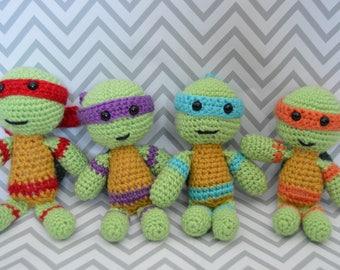 Crocheted Ninja Turtles