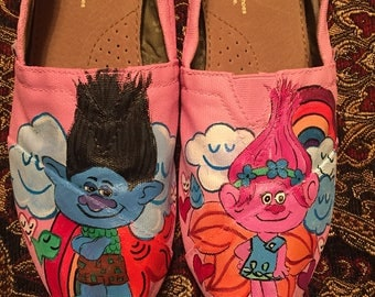 Custom painted Trolls Toms. Designed and personalized just for you!