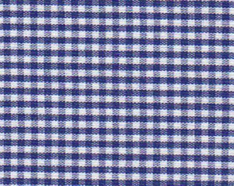 """Nautical- Blue-Deep Royal  1/16"""" Gingham Check  gingham - 44-45"""" wide - 100% Cotton"""