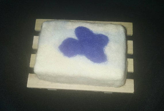 Felted Bar Soap, merino wool roving, hostess gift, unique gift, FREE soap dish included
