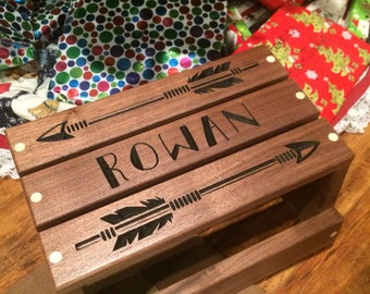 Personalized Child's Step Stool. Little Indian Arrow