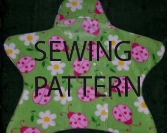 Star baby bunting wrap, *digital* download  printable machine SEWING pattern.