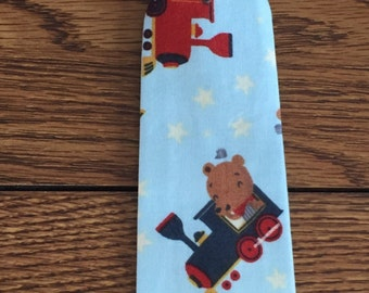 Baby Boy/ Toddler Bears and Trains Tie.  It will fit a baby to a 2 year old.