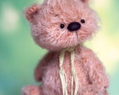 5 inches miniature Teddy bear, Blythe friend, artist teddy bears, ooak teddy bear, crochet teddy bear, crochet bear, gift for her, ooak bear