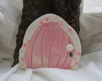 Pink shimmer faerie door